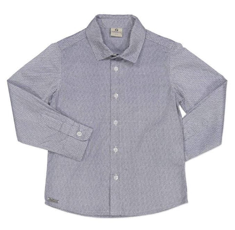 Boys Long Sleeved Blue Print Shirt by Try Beyond