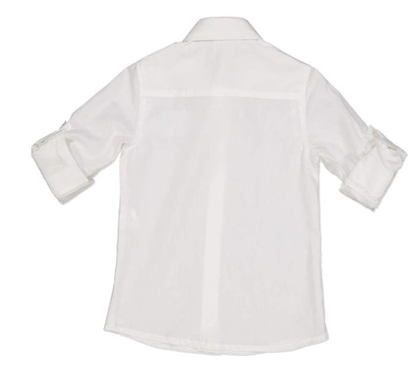 Boys Long Sleeved Classic White Shirt by Try Beyond