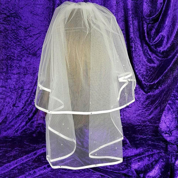 Satin Edge First Holy Communion Veil Style 1981