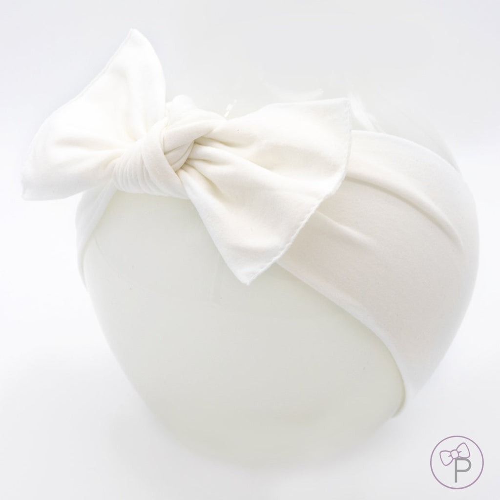 Little Bow Pip White Pippa Bow Hairband