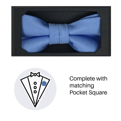 Zazzi Boys Bow Tie & Pocket Square 4641-3