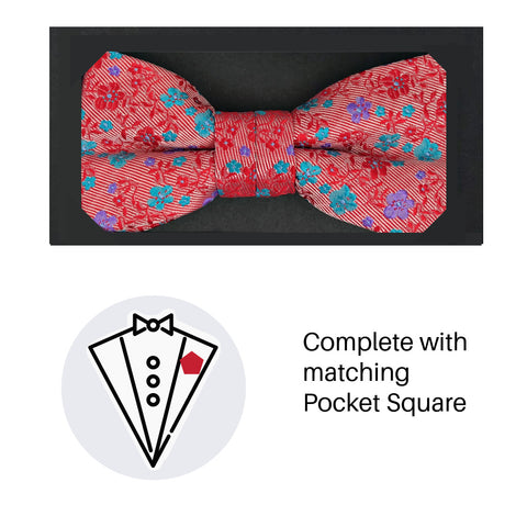 Zazzi Boys Bow Tie & Pocket Square 4931-3