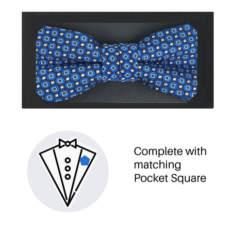 Zazzi Boys Bow Tie & Pocket Square 4933-1