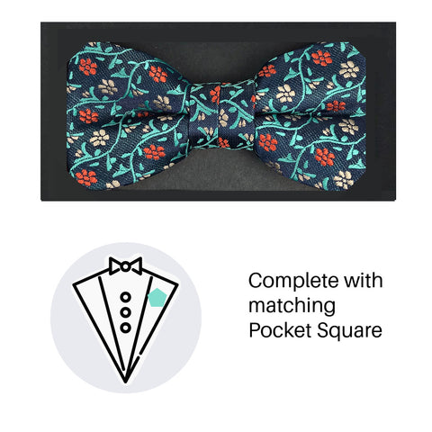 Zazzi Boys Bow Tie & Pocket Square 4935-1