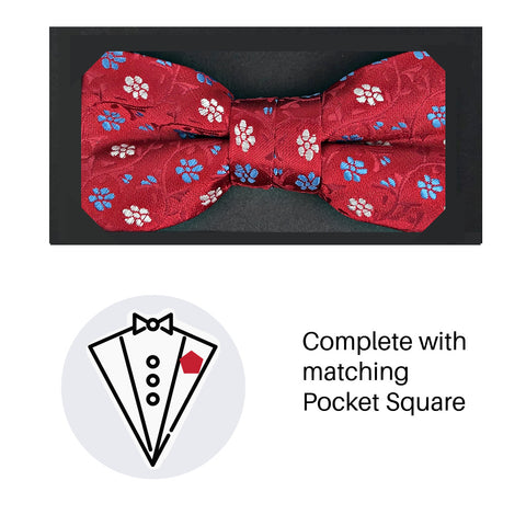 Zazzi Boys Bow Tie & Pocket Square 4935-2
