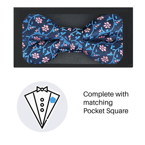Zazzi Boys Bow Tie & Pocket Square 4935-3