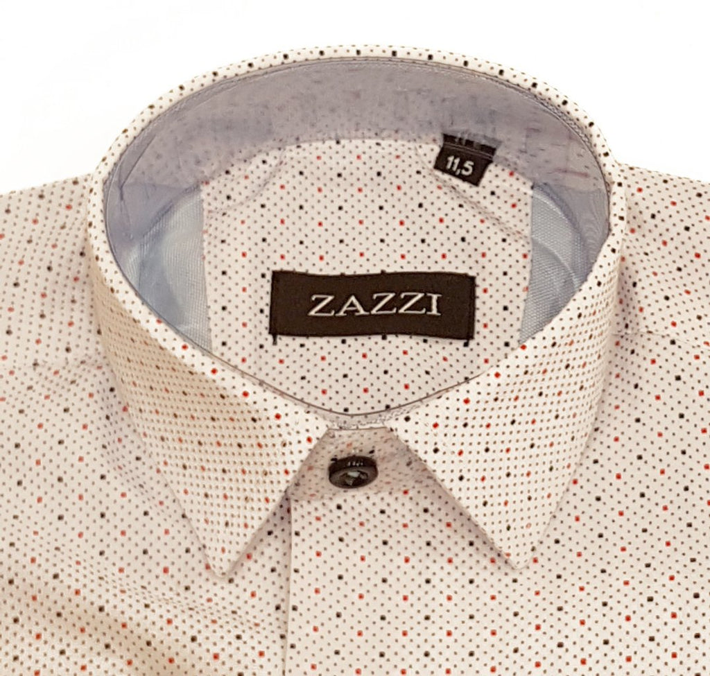 Boys white Polka Dot Shirt