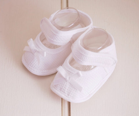 White Soft Baby Booties