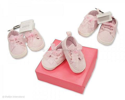 Baby Girl Pink Canvas Soft Shoe
