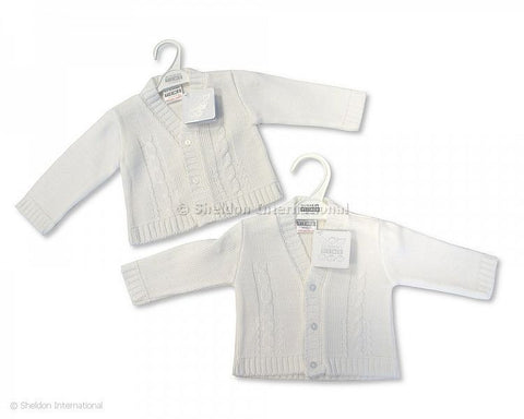 Baby Boys White Cardigan