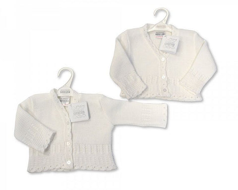 Baby Girl White Knit Cardigan