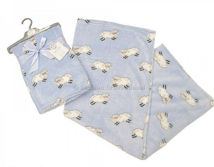 Sheldon Snuggle Baby Wrap Blue & Pink Lambs