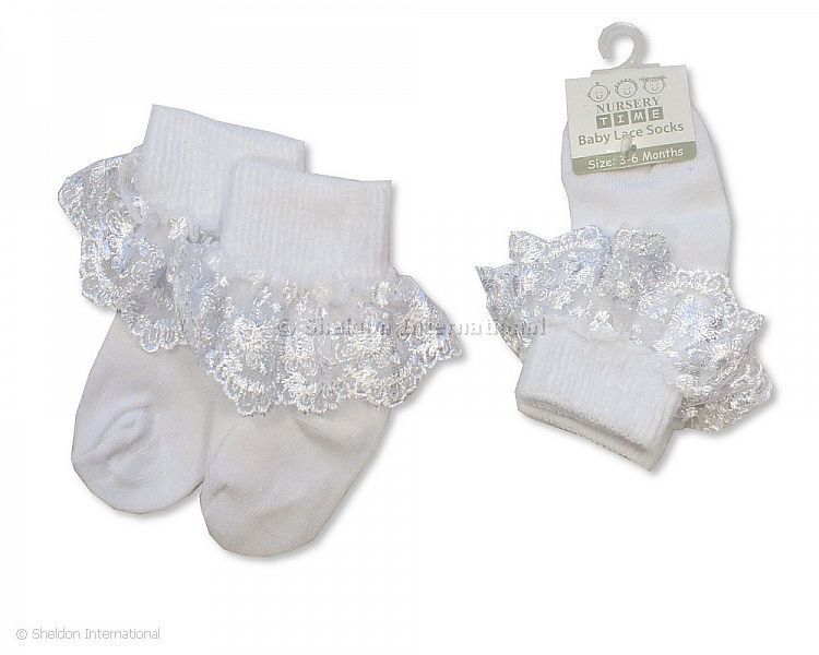 Baby Girl White Lace Frill Socks