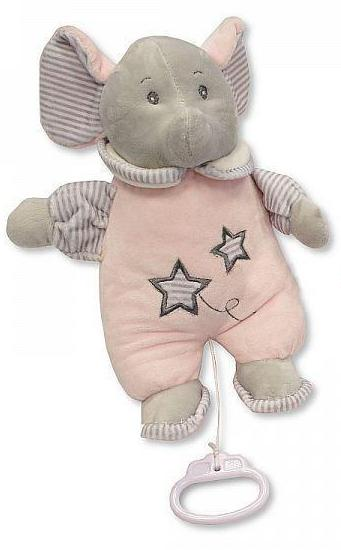 Sheldon Snuggle Baby Girl Pink Soft Musical Elephant Toy