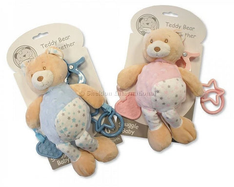 Snuggle Baby Activity Bear With Teether