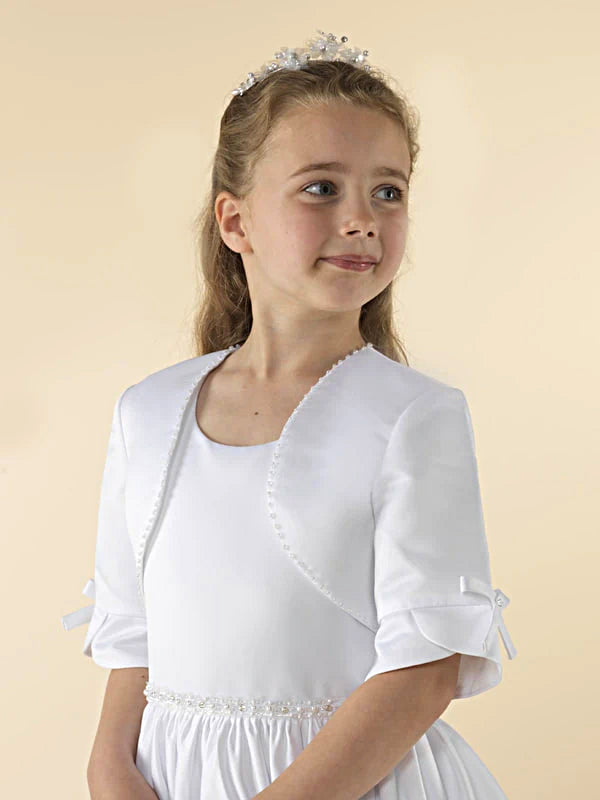 Girls Communion Bolero Jacket JAC4WT Linzi Jay