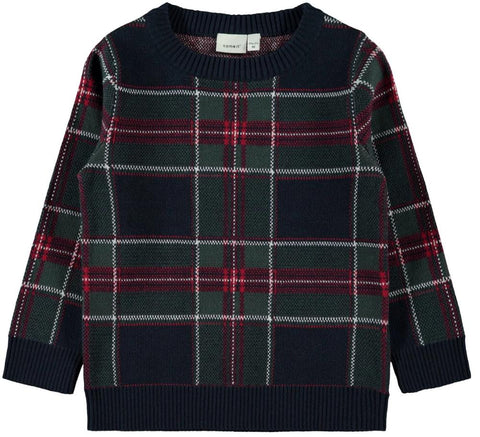 Name it Boys Knitted Check Pullover