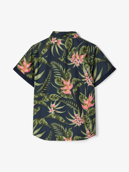 Name it Boys Short Sleeved Tropical Shirt