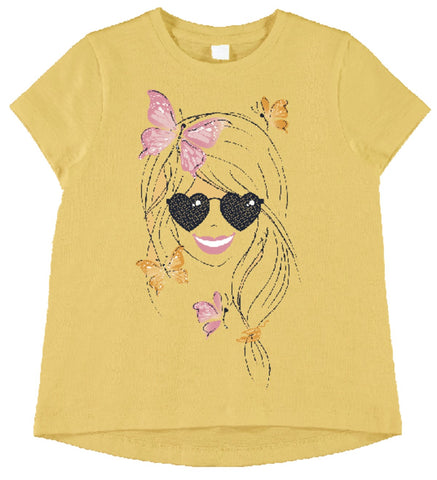 Name it Mini Girl Short Sleeved T-Shirt with Colourful Prints