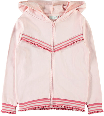 Name it Girls Pink Zip-Up Hoodie
