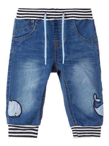 Name it Baby Boy Soft Jeans with Whale Motif