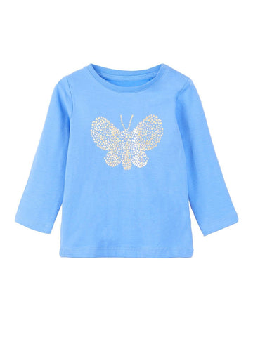Name it Baby Girl Gold Butterfly Long Sleeved Top