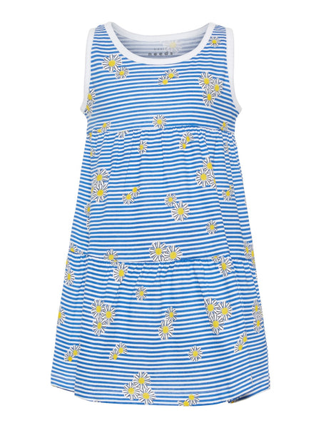Name it Mini Girls Stretch Cotton Colourful Print Dress