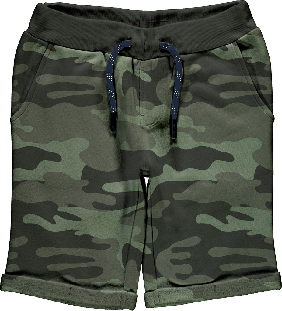 Name it Boys Long Style Sweat Shorts in Forest Green