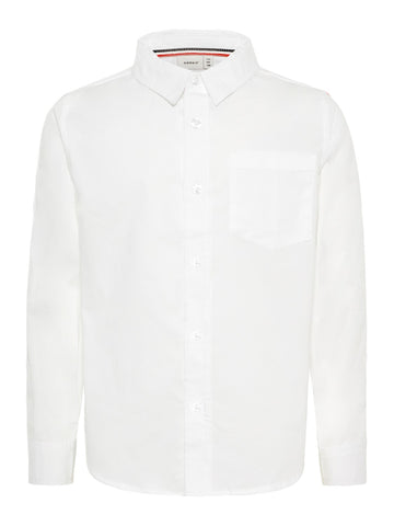 Name it Boys Trendy White Long Sleeve Shirt
