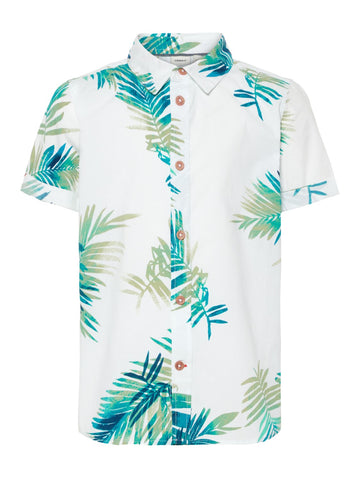 Name it Boys Short Sleeved Printed Shirt