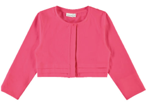 Girls Pink 3/4 Sleeve Bolero