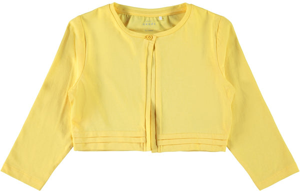 Girls Lemon 3/4 Sleeve Bolero