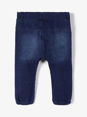 Baby Boy Soft Sweat Dark Denim Jeans