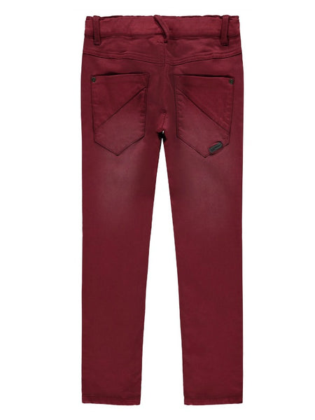 Name it Boys Regular Fit Stretch Trousers in Wine