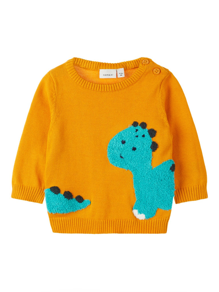 Baby Boy Knit Dinosaur Jumper