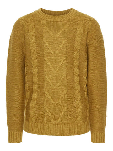Name it Boys Round Neck Cable Knit Jumper