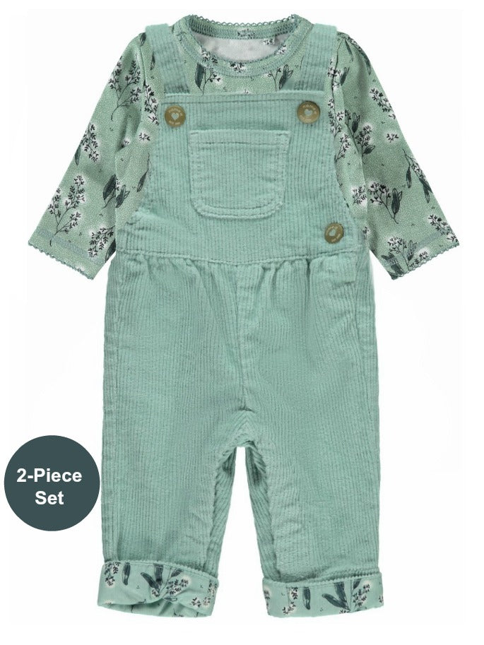 Name it Baby Girl 2-Piece Corduroy Dungaree Set