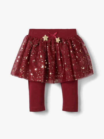 Name it Baby Girl Tulle Skirt with Attached Leggings