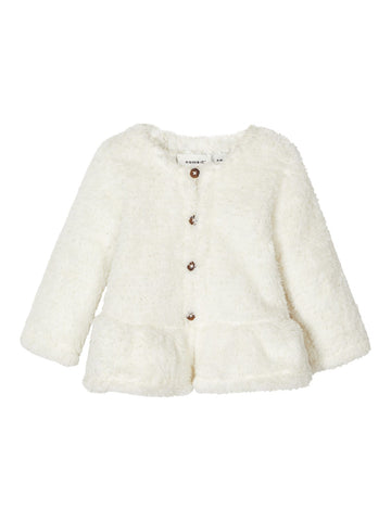 Name it Baby Girl Fluffy Cream Cardigan