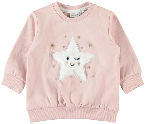 Name it Baby Girl Long Sleeved Brushed Sweatshirt