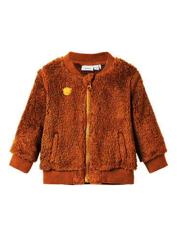 Baby Boy Long Sleeve Teddy Cardigan