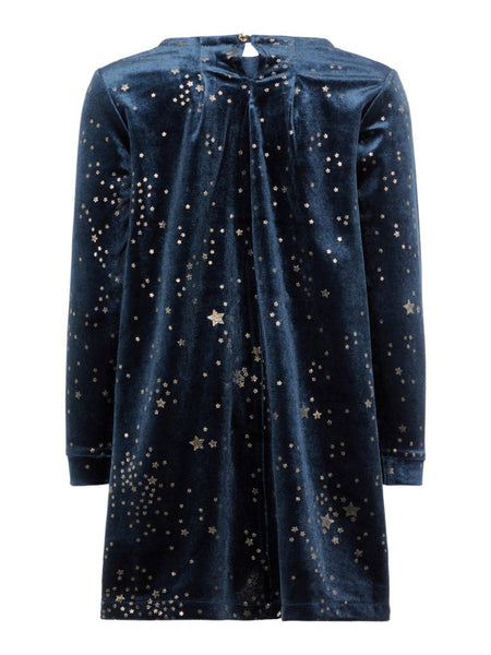Name it Mini Girl Long Sleeve Soft Velvet Dress
