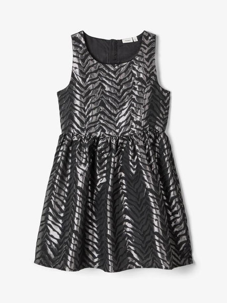 Name it Girls Silver Animal Print Party Dress