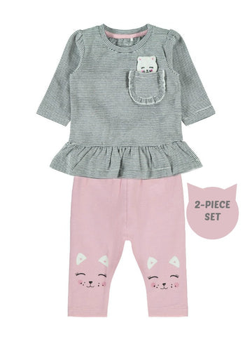 Name it Baby Girl 2-Piece Stripey Top and Legging Set