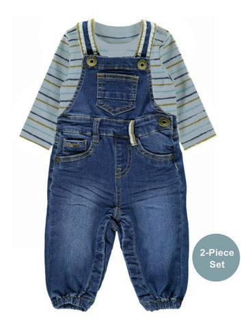 Name it Baby Boy 2-Piece Blue Denim Dungaree Set