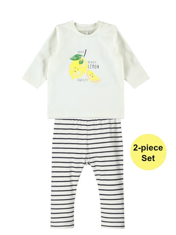 Name it Baby Girl 2-Piece Top and Stripe Legging Set
