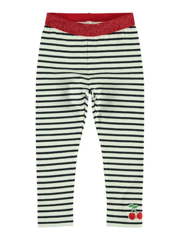 Name it Mini Girl Organic Cotton Dots and Stripes Leggings
