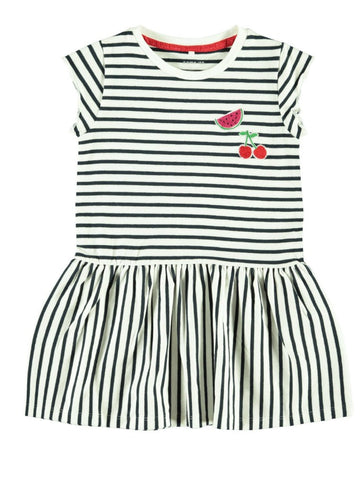 Name it Mini Girl Capped Sleeved Cotton Dress
