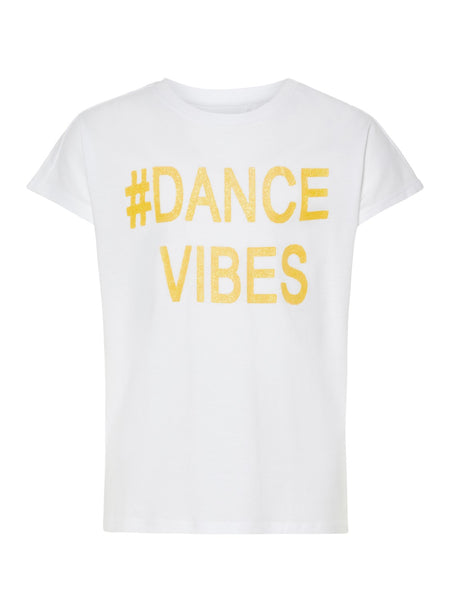 Name it Girls Short Sleeve T-Shirt with Dance Theme
