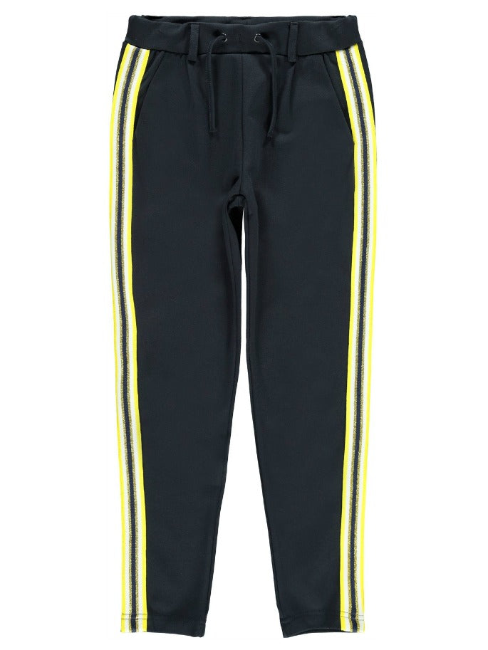 Name it Girls Sweat Pant with Yellow Side Stripe
